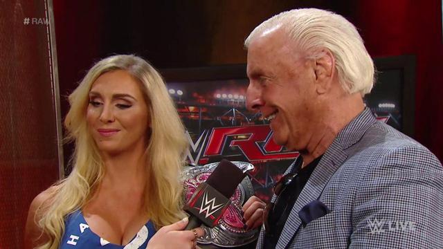 Charlotte Flair and Ric Flair WWE