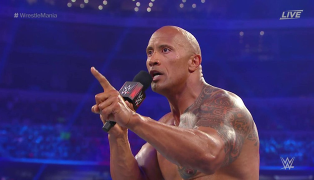 The Rock Dwayne Johnson WrestleMania 32