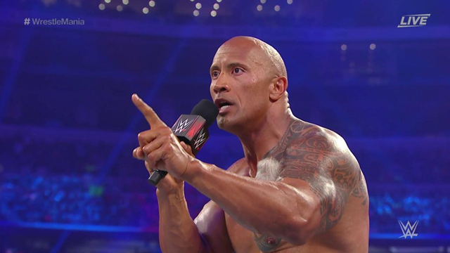 The Rock Dwayne Johnson WrestleMania 32 Second