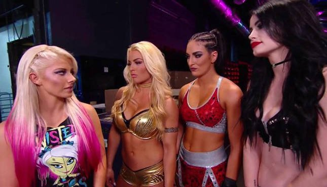 WWE Mandy Rose Sonya Deville Alexa Bliss Raw