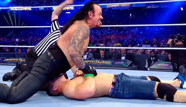 WWE Undertaker John Cena WrestleMania 34