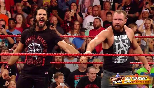 WWE's Seth Rollins Dean Ambrose Raw 81318