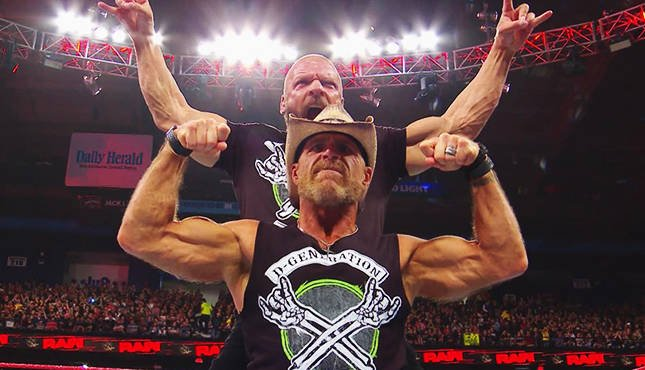 DX HBK's Triple H Shawn Michaels D-Generation X Raw 10818