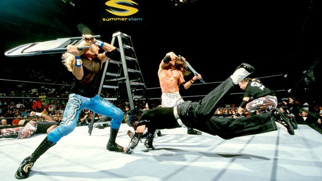 Edge Christian Hardys Dudleys TLC Summerslam Ladder Match