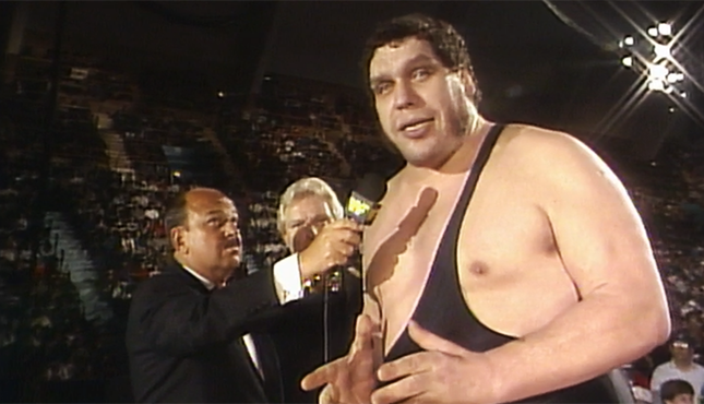 Andre the Giant WWF Prime Time Wrestling