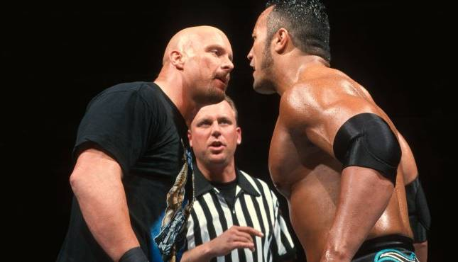 Steve Austin Rock WrestleMania XV, Roman Reigns WWE