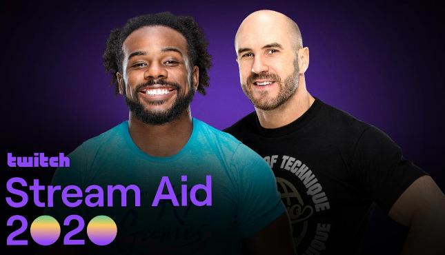 Cesaro Xavier Woods Twitch Stream Aid 2020