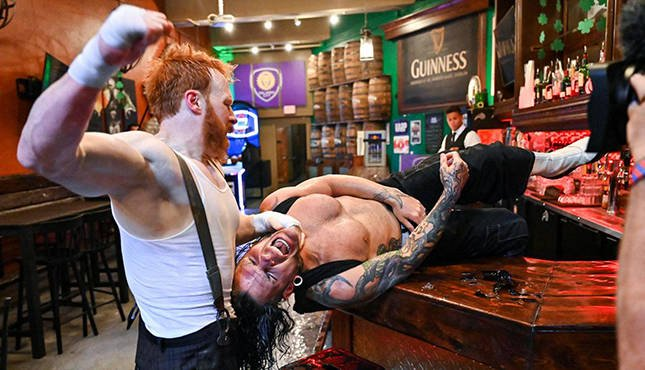 Sheamus Jeff Hardy Smackdown Bar Fight